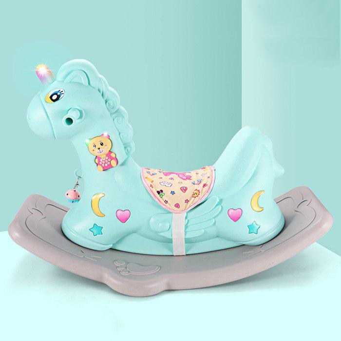 Outfits Rocking Horse Dual-use Scooter Toy with Music Learning Toy for Baby