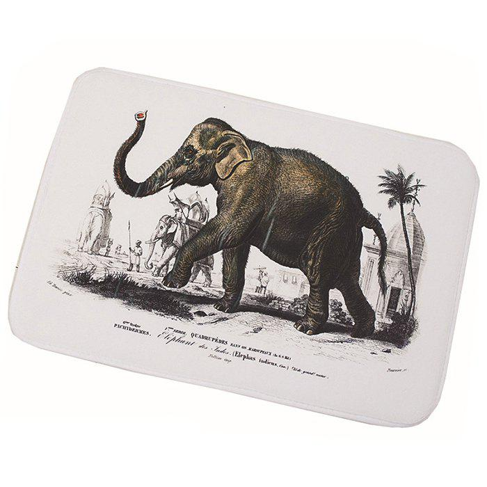 Best Elephant Printed Non-slip Bathroom Floor Mat