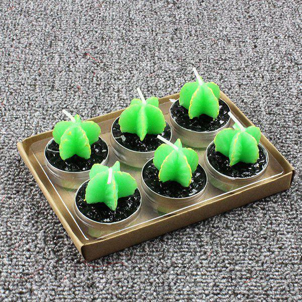 Sale Plant Decoration Smokeless Creative Craft Candles 6pcs