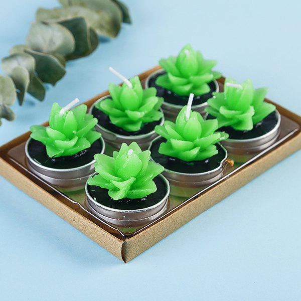 Shops Plant Decoration Smokeless Creative Craft Candles 6pcs