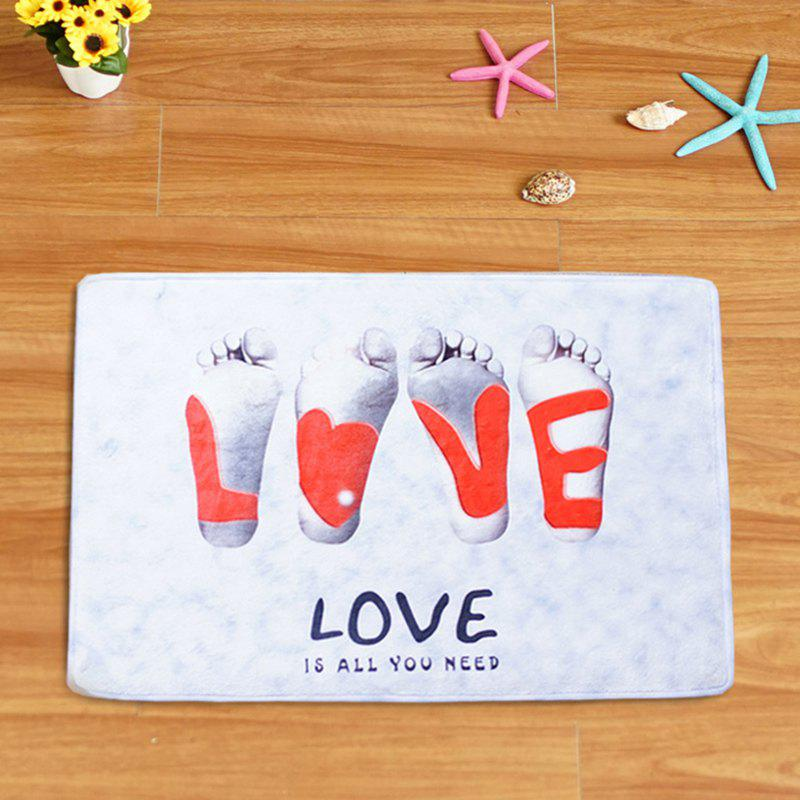 Best Footprint Printing Non-slip Bathroom Floor Mat
