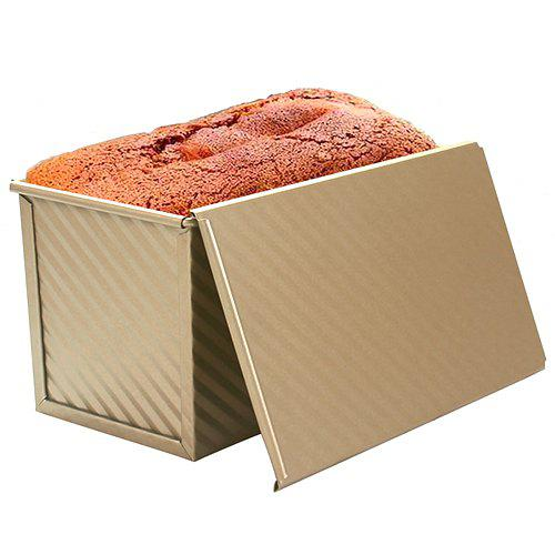 Cheap Rectangular Non-stick Corrugated with Lid Toast Bread Mold Oven Baking Tool