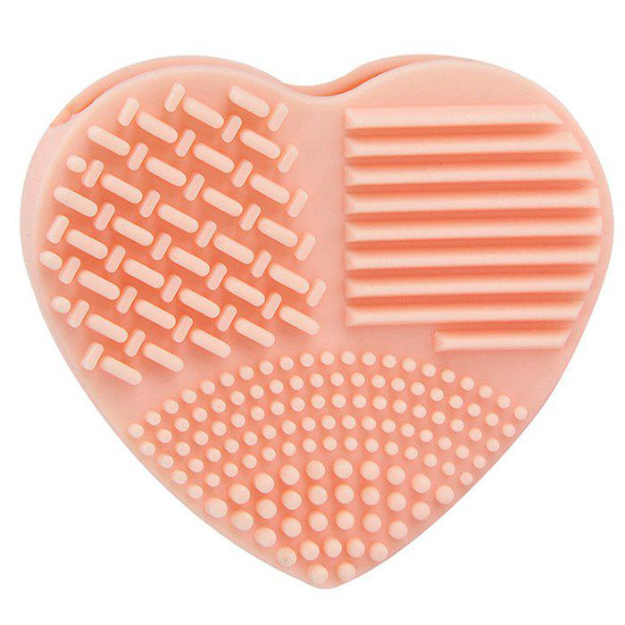 Discount Silicone Heart-shaped Wash Pad Beauty Cleaning Makeup Tool
