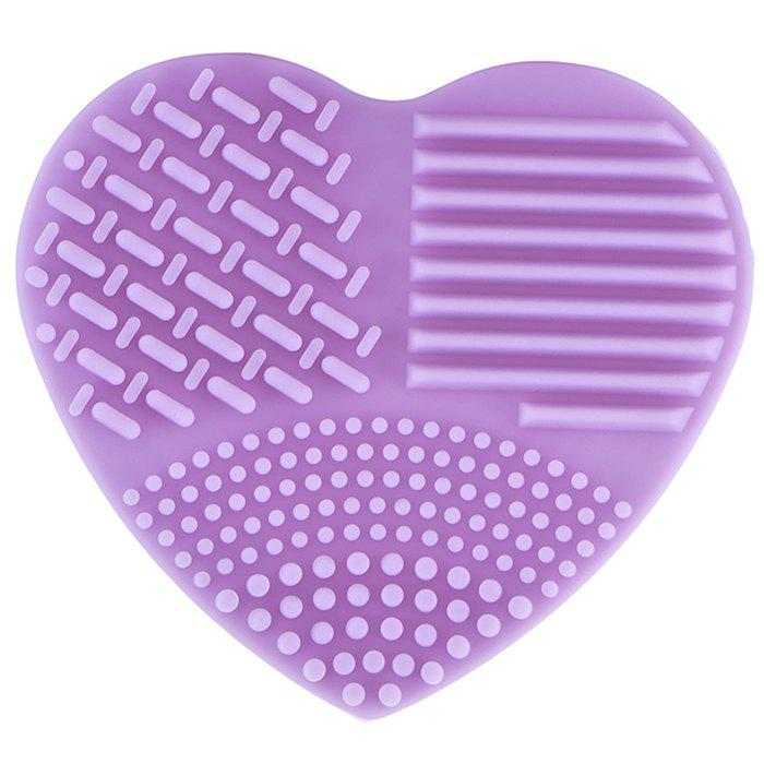 Outfits Silicone Heart-shaped Wash Pad Beauty Cleaning Makeup Tool