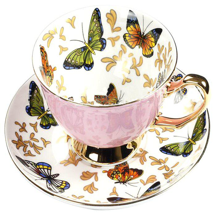 Shop Coffee Cup And Saucer Set Color Porcelain Butterfly Bone Afternoon Teacup