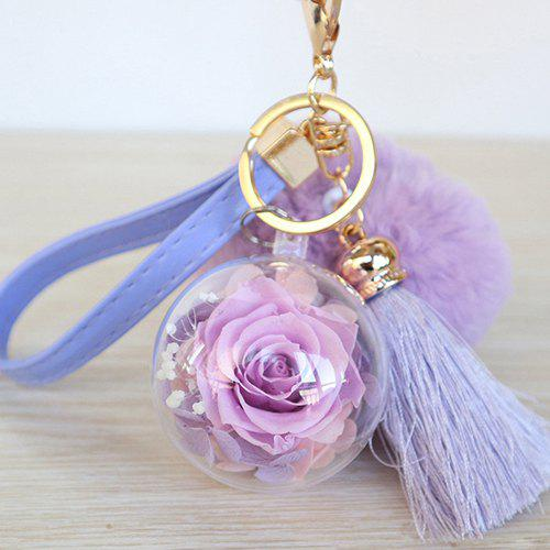 Discount Everlasting Flower Car Hanging Keychain for Valentine's Day Christmas Birthday Gift