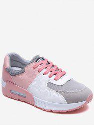 Color Block Patch Running Sneakers -