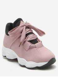 PU Leather Platform Casual Sneakers -
