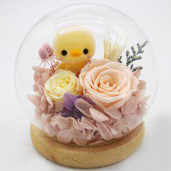 Glass Cover Creative Gifts Christmas Everlasting Flower -