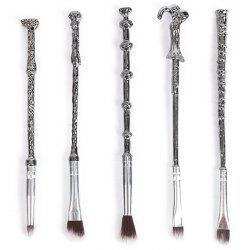 7 - XW01252 - D05.2.03 Metal Magic Wand Makeup Brush Set Beauty Tools -
