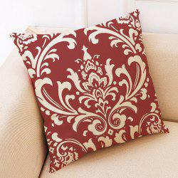 Creative Red Geometric Printed Cotton Hug Pillowcase -