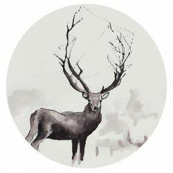 15 - T6937 - U07.01.11 Exaggerated Antler Elk 5D Diamond Embroidered Painting -