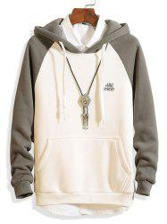 JC - Y75 Spring Color Matching Sleeve Hoodies Sweater -