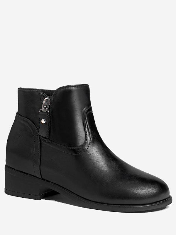 Cheap Plus Size Chunky Heel Ankle Boots