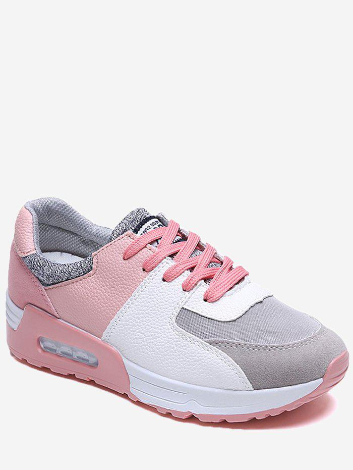 Chic Color Block Patch Running Sneakers