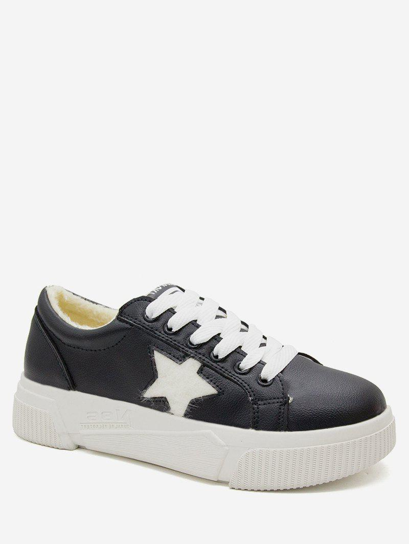 Affordable Star Pattern Lace Up Casual Sneakers