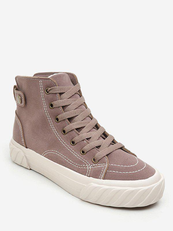 Cheap Lace Up Suede Sneaker Boots