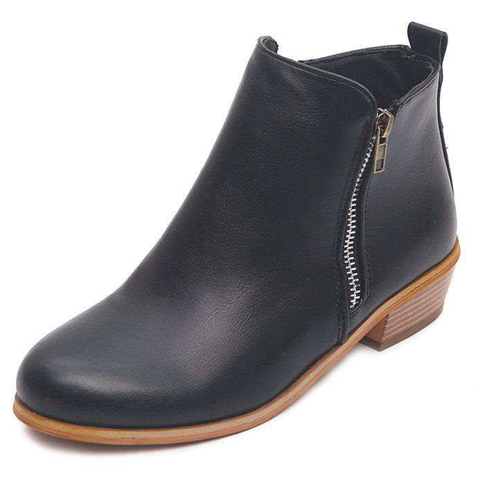 Outfits Vintage Thick Large Size Side Zipper Women Boots