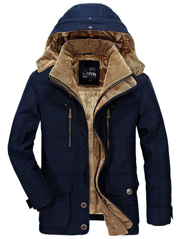 f156c38234 51% OFF  Men Winter Business Casual Multi-pocket Hooded Coat