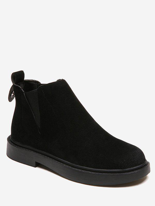 Discount Round Toe Ankle Chelsea Boots