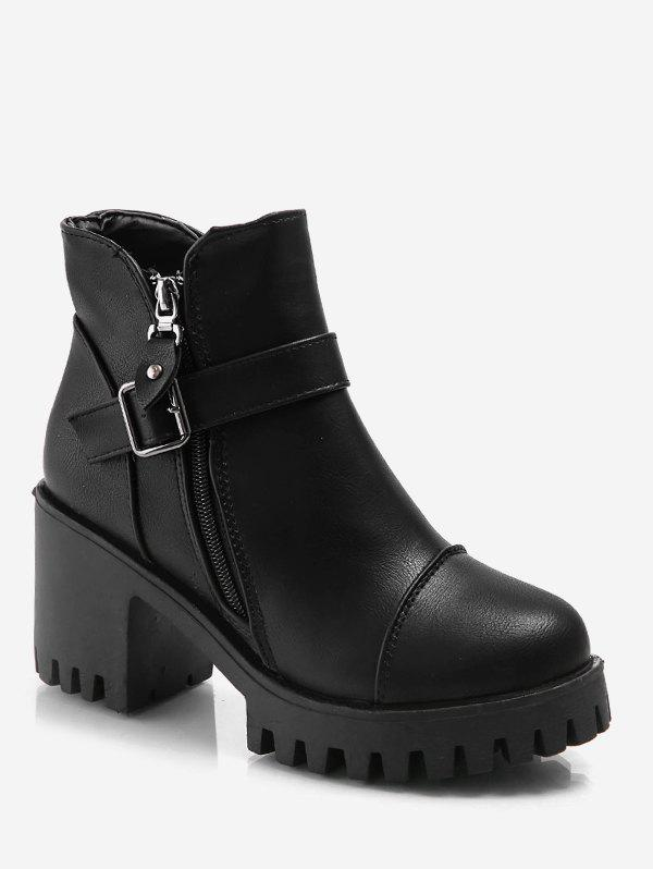 Shop Platform Mid Chunky Heel Ankle Boots