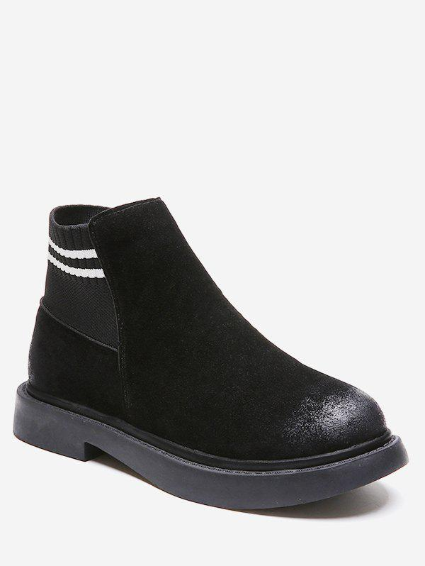Online Striped Detail Slip On Ankle Boots