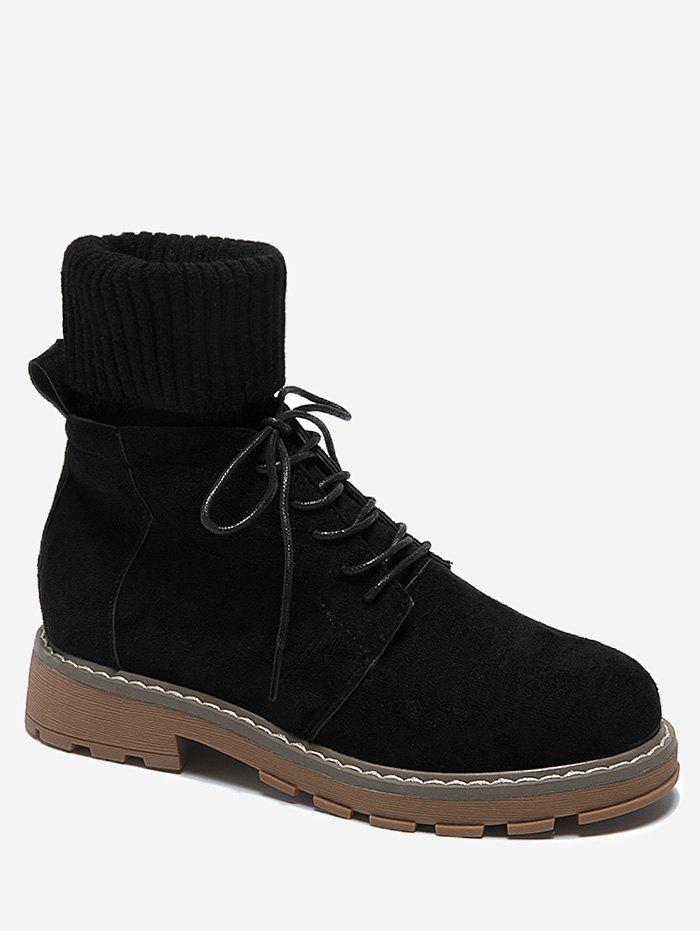Best Fold Over Patch Sock Ankle Boots