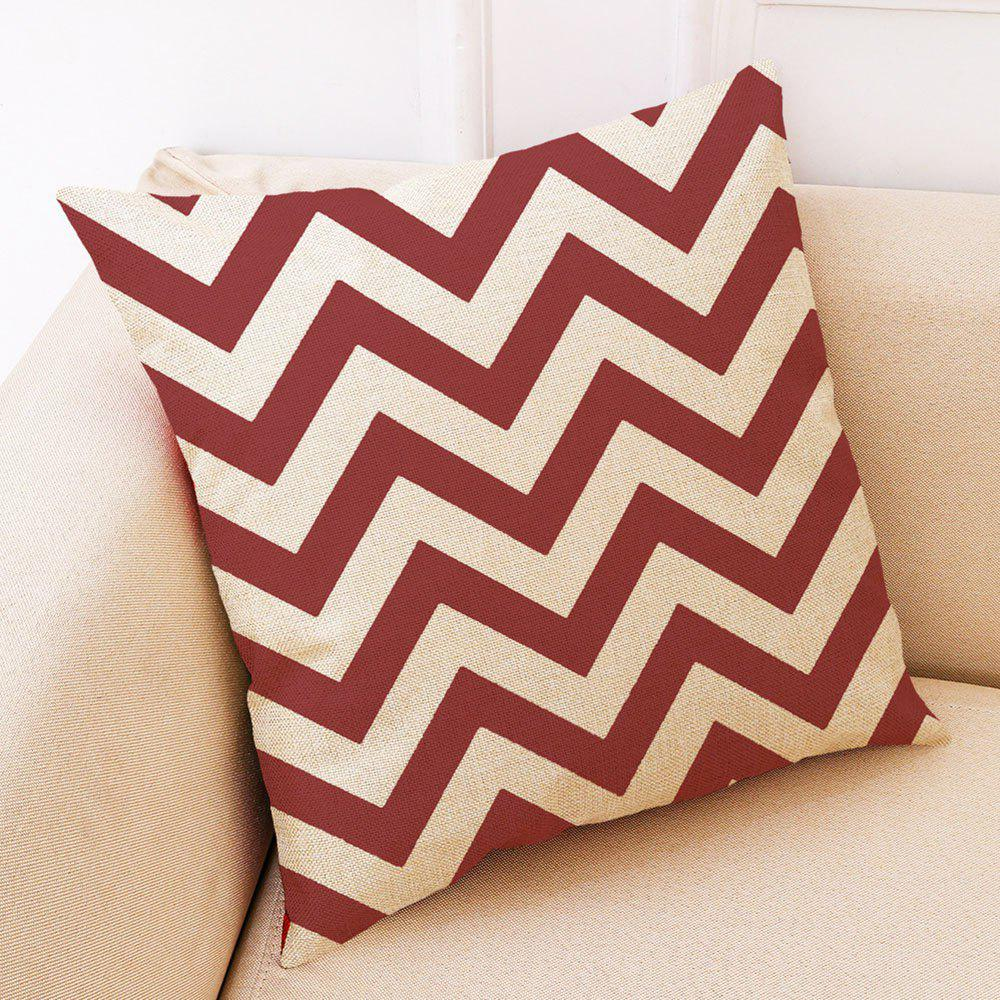 Cheap Creative Red Geometric Printed Cotton Hug Pillowcase