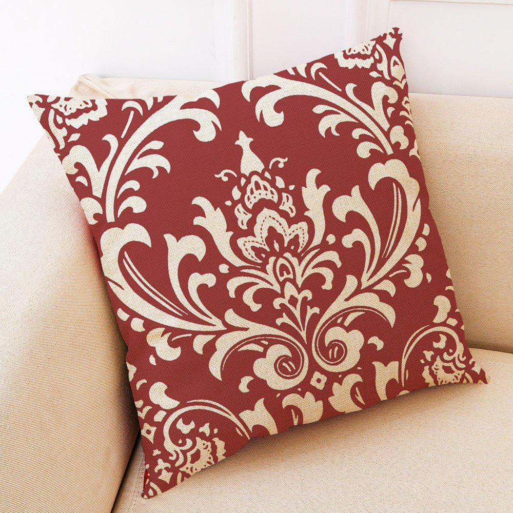 Trendy Creative Red Geometric Printed Cotton Hug Pillowcase