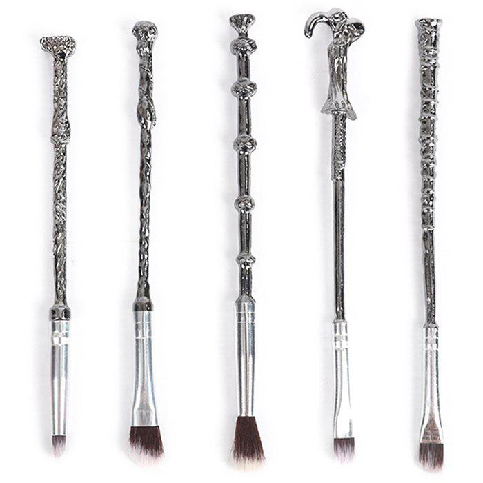 Best 7 - XW01252 - D05.2.03 Metal Magic Wand Makeup Brush Set Beauty Tools