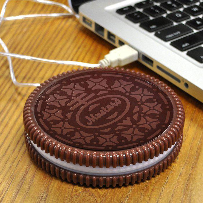 Discount USB Powered Biscuit Shape Coaster