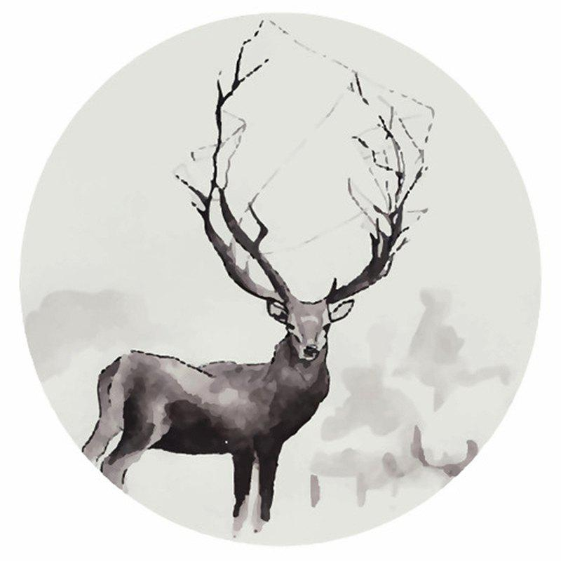 Unique 15 - T6937 - U07.01.11 Exaggerated Antler Elk 5D Diamond Embroidered Painting