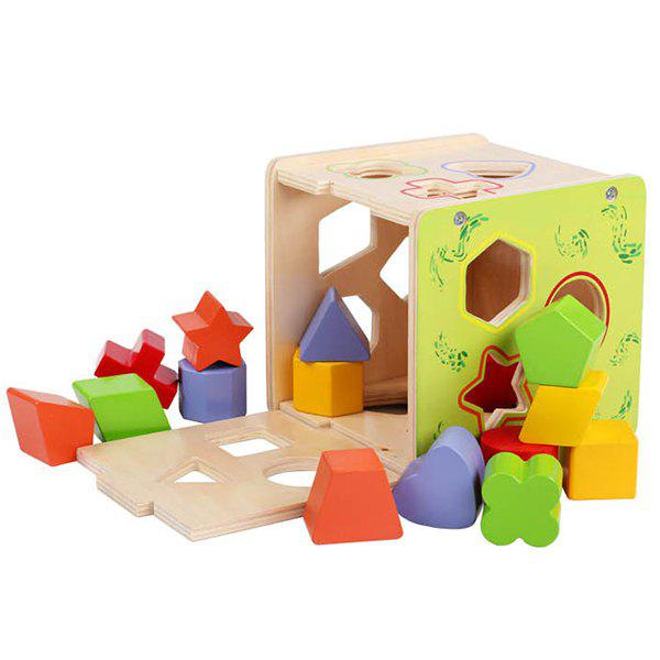 Sale Fifteen-hole Shape Paired Intelligence Box Children Color Cognition Toy Building Blocks