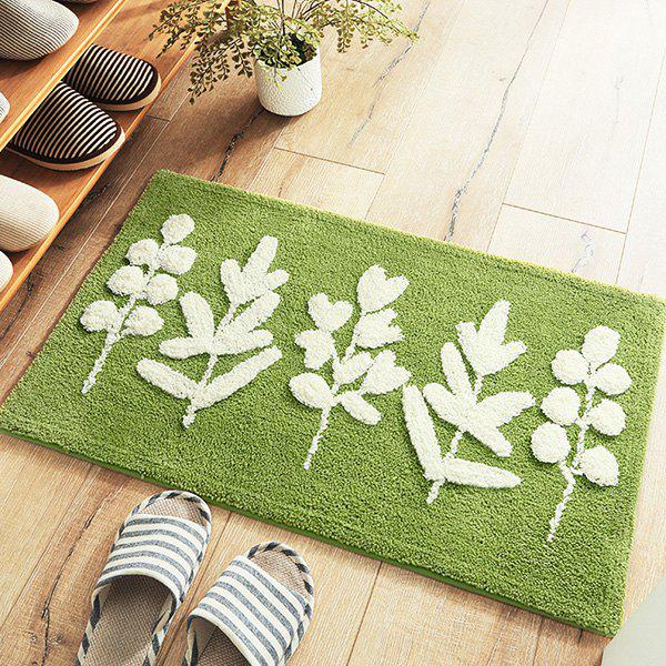 Cheap Leaves Thickened Flocking Door Mats Home Porch Anti-slip Cushion