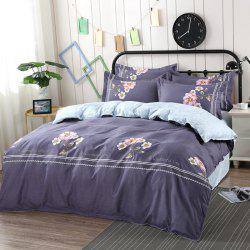 AB Version Active Twill Thickening Sanding Four-piece Plant Cashmere Bedding Package -