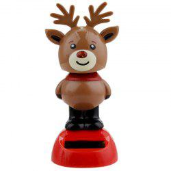 Solar Energy Automatic Swing Elk Car Ornament -