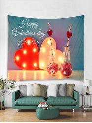 Happy Valentine's Day Print Tapestry Wall Hanging Art Decoration -