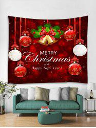 Christmas Balls Bells Print Tapestry Wall Hanging Art Decoration -