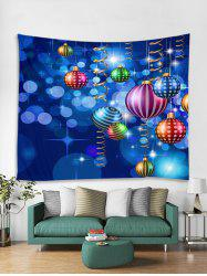 Christmas Colorful Balls Print Tapestry Wall Hanging Art -