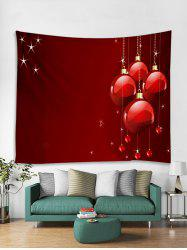 Christmas Balls Hearts Print Tapestry Wall Hanging Art -