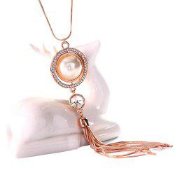MY - 0011 Pearl Tassel Sweater Chain Long Necklace -