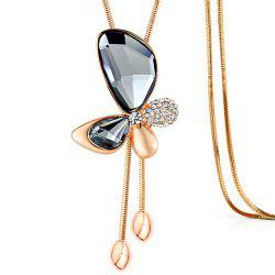 MY - 0014 Butterfly Crystal Sweater Chain -