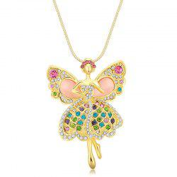 MY-0013 Angel Opal Sweater Chain Long Necklace -