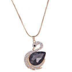 MY - 0015 Swan Crystal Sweater Chain -