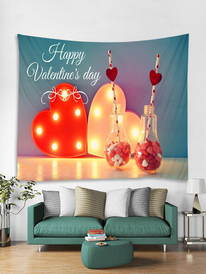 Fancy Happy Valentine's Day Print Tapestry Wall Hanging Art Decoration