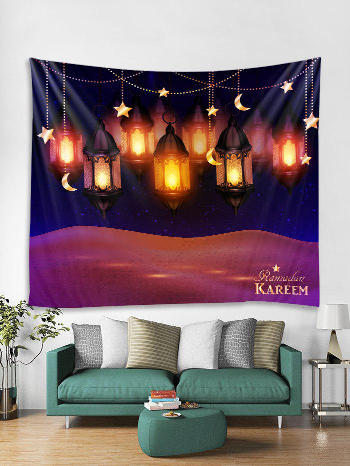 Trendy Lanterns Print Tapestry Wall Hanging Art Decoration