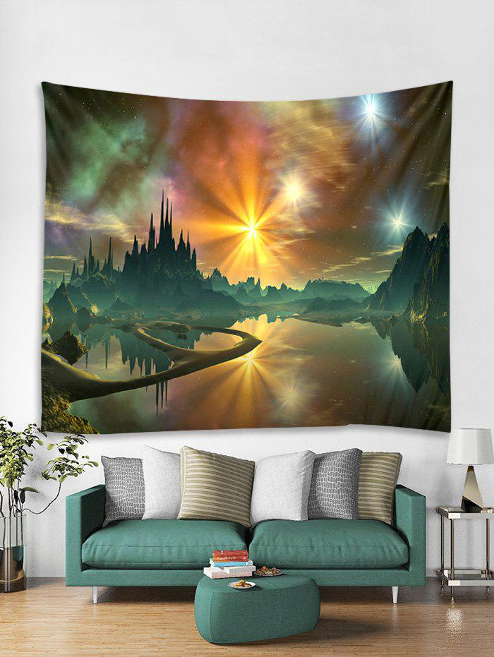 Hot Mountains and Lakes Print Tapestry Wall Hanging Art