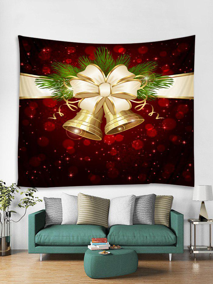 Trendy Christmas Bells Print Tapestry Wall Hanging Art Decoration