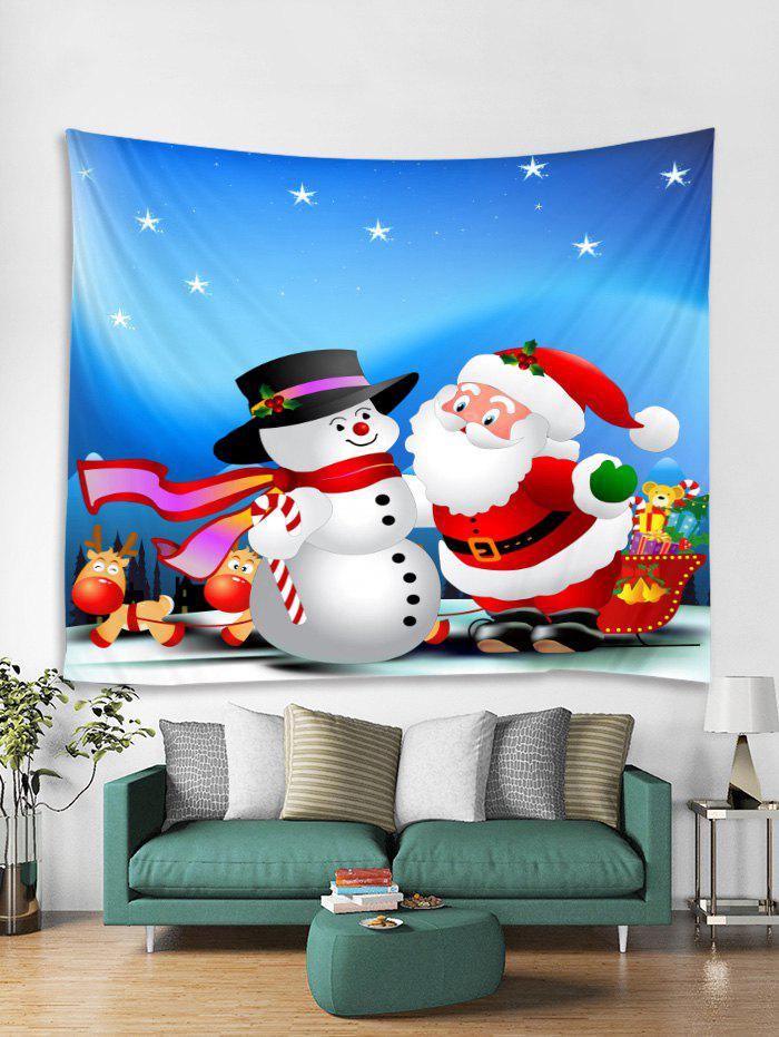Outfits Christmas Santa Claus Snowman Print Tapestry Wall Hanging Art