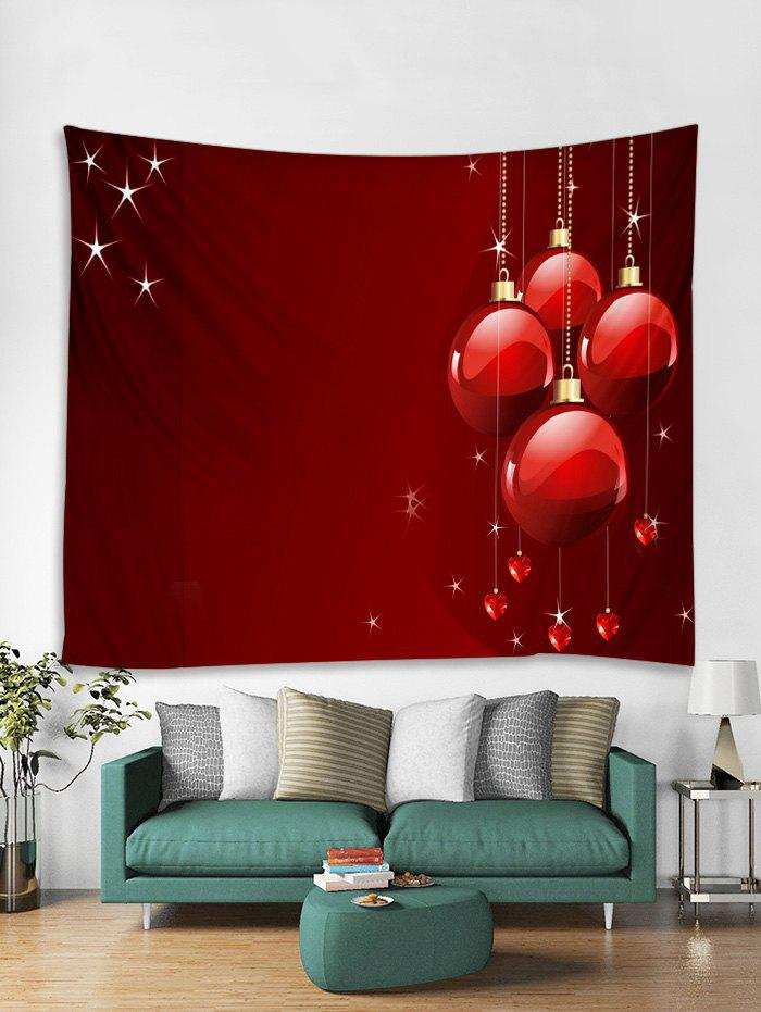 Outfits Christmas Balls Hearts Print Tapestry Wall Hanging Art